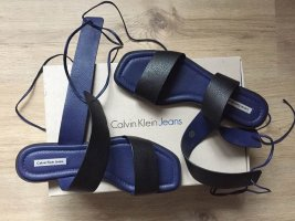 Calvin Klein Jeans Roman Sandals black-dark blue leather