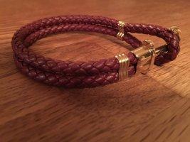Paul Hewitt Lederen armband bordeaux Leer