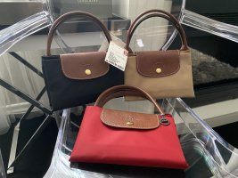 NEU Longchamp Le Pliage Original M Modele Depose Rot kurze Henkel
