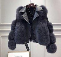 Maison Valentina Fur Jacket anthracite-dark grey pelt