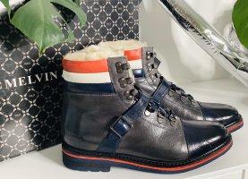 ❤️ Neu!!! Melvin & Hamilton Stiefel Stiefelette Boots Leder NP 189,-€ warm gefüttert Größe 38