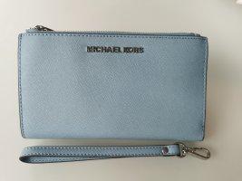 Michael Kors Pochette bleu azur cuir