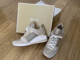 NEU Michael Kors Schuhe Sneaker Wedges in beige OVP