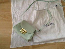 Neu !! Mintgrün/Hellgrün exklusive kleine Abendtasche Leder