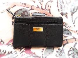 NEU mit Etikett!!! Fossil Portmonee aus schwarzem Leder und mit goldenen Details