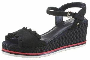 Neu mit Etikett! Keil Sandalen von Tom Tailor Gr. 37 in Dunkelblau/Rot/Weiss