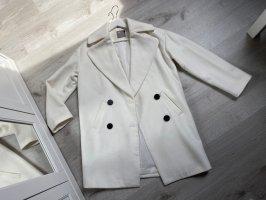 Asos Wool Coat white-black