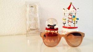 Accessorize Okulary retro nude-cognac