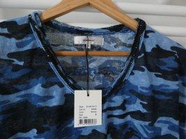 NEU MIT ETIKETT T-Shirt Military Look Perlen Soyaconcept Größe S