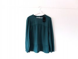 Neu mit Etikett Twin Seit Bluse Gr. XL 42 44 Seide dunkelgrün