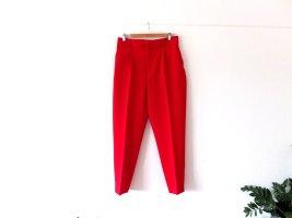 Zara Bandplooibroek rood Polyester