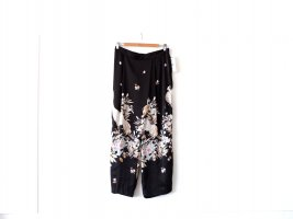 Neu mit Etikett Zara Culottes Gr. L 40 Asia Print schwarz 7/8 Hose