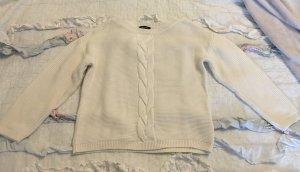Neu More&More Strickpullover Pulli Strick Sweater weiß Gr 40 M