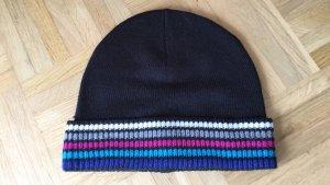 Neu Mütze schwarz mit bunten Streifen