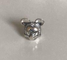 Neu NP79 Disney, Shimmering Mickey Portrait Clip, Charm, Silber