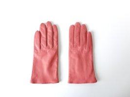 H&M Guantes rosa-rosa Cuero