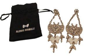 Alexis Mabille Orecchino a pendente argento-bianco Metallo