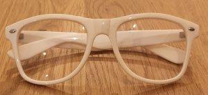 NEU! Oldschool Brille! Weiße Brillenfassung