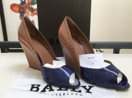 Bally Peep Toe Pumps camel-blue