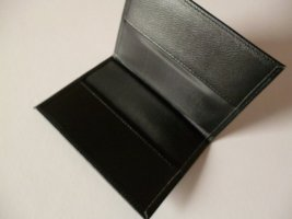 Card Case black leather