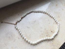 **Neu** Perlenkette  Champagner 40 cm / auf 45 cm verlängerbar
