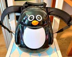 NEU: Pinguin-Rucksack, Außenteil Hartschale, Rückenteil gepolstert