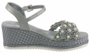 Neu! Plateau Sandalen von Tom Tailor in Grau mit Perlen Gr.38