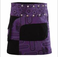 Purewonder Falda cruzada negro-violeta oscuro Algodón