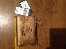 Neu Ralph Lauren Geldbörse mit Etikett Goldfarbend