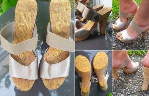 NEU Replay High Heels Gold Metallic Look Gr.39