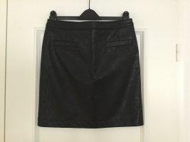 Atelier Gardeur Spódnica z imitacji skóry czarny