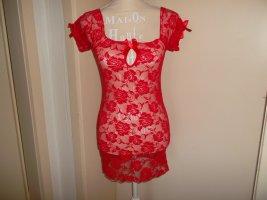 neu,rotes kleidchen mit rosenmuster, grösse s-l, sehr dehnbar