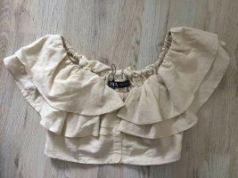 Neu Rüschenbluse/Carmen-Bluse von Zara