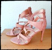 Keine Marke Sandalias de tacón alto rosa empolvado