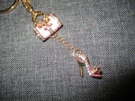 neu,( schlüssel ) anhänger,pink/goldfarben,high heels,handtasche