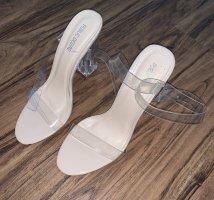 NEU Schuhe mit Transparenten Absatz