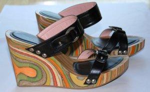 NEU Schuhe von Fornarina mit Keilabsatz Wedges Pumps High Heels Sandale Gr. 36