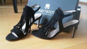 NEU! Schwarze Sandaletten von Navyboot! NEU! BESTPREIS!