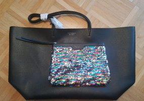 Neu schwarzer Victoria Secret Shopper + Pailetten Clutch