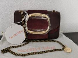 *Neu* See by Chloé Leder Tasche bordeaux (überall ausverkauft!!)
