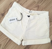 NEU Shine Jeans Sommer Shorts Weiß W26 S 36 38 kurze Hose Hotpants Strandhose