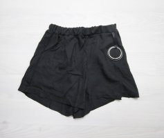 Shorts black-silver-colored