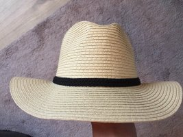 keine Straw Hat cream-black