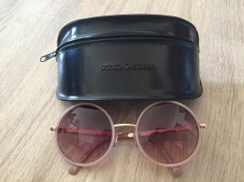 H&M Owalne okulary przeciwsłoneczne w kolorze różowego złota-czarny