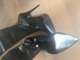 Neu !!! Stiefel schwarz aus Latex