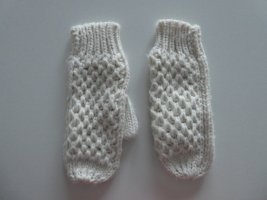Mittens natural white