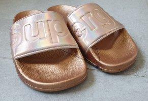 Superga Mules bronze-colored-rose-gold-coloured