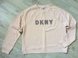 DKNY Felpa rosa antico-nero Cotone