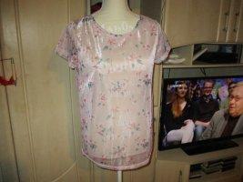 neu,t-shirt,glitzer,rose,blümchen.janina.grösse 38