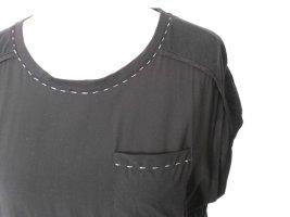 NEU * T-Shirt im Materialmix von ODEON, Farbe Schwarz, Gr. 40 (L)